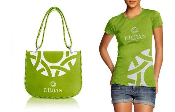 Одежда с использованием брендбука города Дилижана
