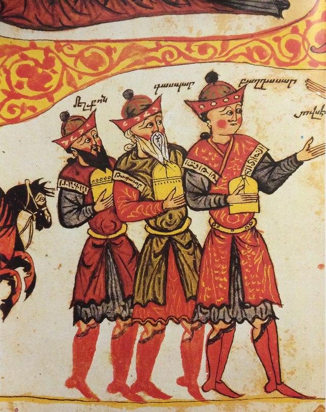Иллюстрация из Евангелие художника Йованнеса из Бекри (Васпуракан), Западная Армения, 1362 год