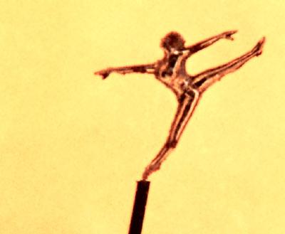 Фигура балерины. Сделана из стали.