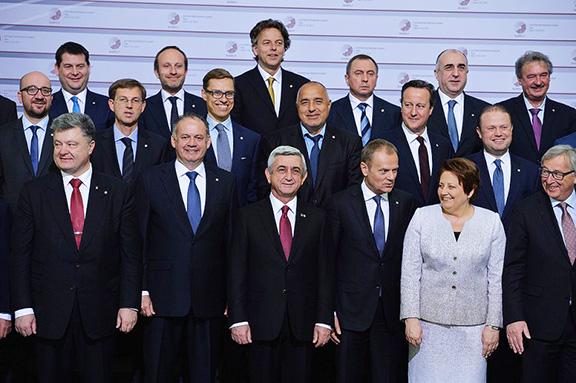 Президент Саркисян в компании европейских лидеров на саммите ЕС в Риге